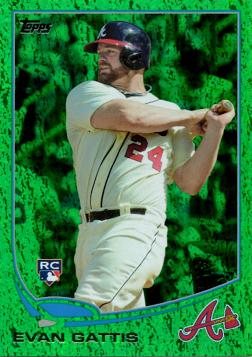 2013 Topps Emerald Evan Gattis Rookie Card