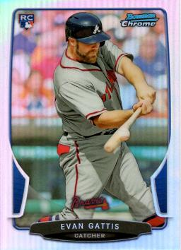 Evan Gattis Bowman Chrome Refractor Rookie Card