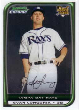 2008 Bowman Chrome Evan Longoria Rookie Card