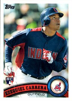 2011 Topps Update Ezequiel Carrera Rookie Card