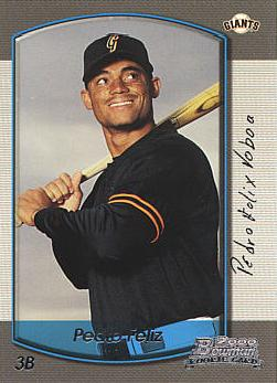 2000 Bowman Draft Picks Pedro Feliz Rookie Card