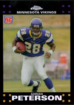 2007 Topps Chrome Refractor Adrian Peterson Rookie Card
