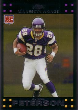 2007 Topps Chrome Adrian Peterson Rookie Card