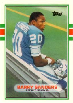 1989 Topps Traded Barry Sanders Rookie Card