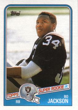 Bo Jackson Football Rookie Card