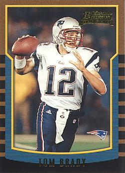 Tom Brady Football Rookie Card