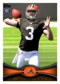 2012 Topps Brandon Weeden Rookie Card