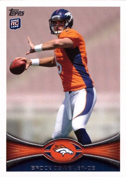 2012 Topps Football Brock Osweiler Rookie Card