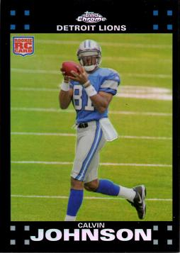 2007 Topps Chrome Refractor Calvin Johnson Rookie Card