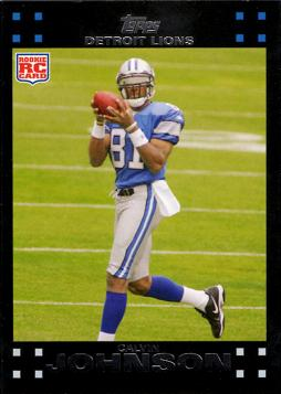 2007 Topps Calvin Johnson Rookie Card