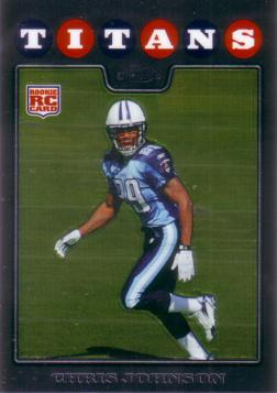 2008 Topps Chrome Chris Johnson Rookie Card