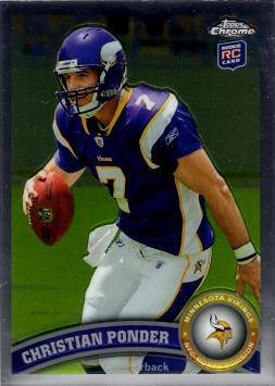Christian Ponder Topps Chrome Rookie Card