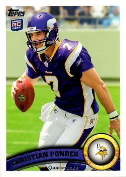 2011 Topps Christian Ponder Rookie Card