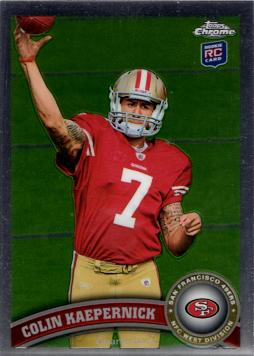 Colin Kaepernick Topps Chrome Rookie Card