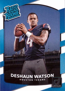 2017 Panini Donruss Football Deshaun Watson Rookie Card