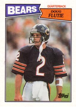 1987 Topps Doug Flutie Rookie Card