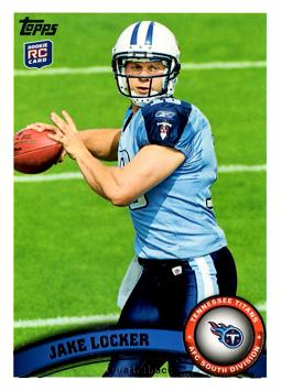 2011 Topps Jake Locker Rookie Card