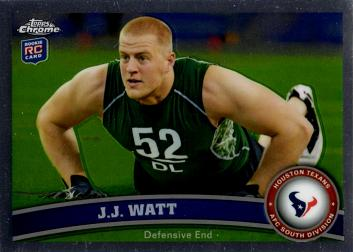 J.J. Watt Topps Chrome Rookie Card