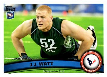 J.J. Watt Rookie Card