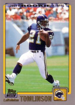 2001 Topps LaDainian Tomlinson Rookie Card