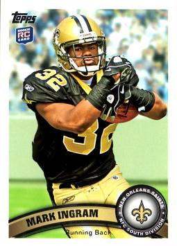 2011 Topps Mark Ingram Rookie Card