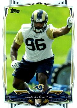 2014 Topps Football Michael Sam Rookie Card