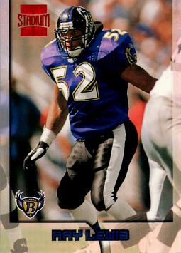 1996 Topps Stadium Club Ray Lewis Rookie Card