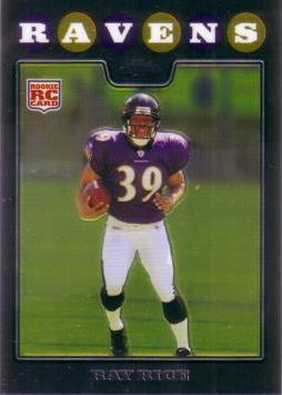 2008 Topps Chrome Ray Rice Rookie Card