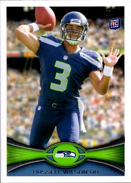 2012 Topps Football Russell Wilson Rookie Card