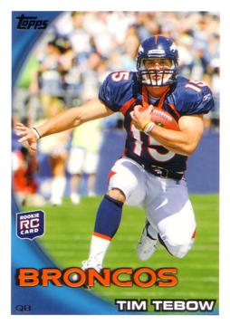 2010 Topps Tim Tebow Rookie Card