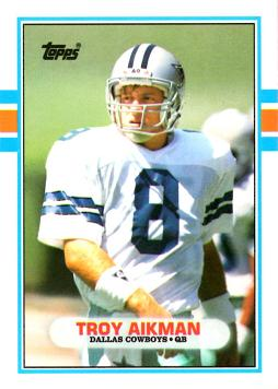 1989 Topps Traded Troy Aikman Rookie Card