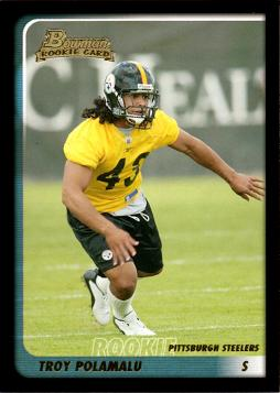2003 Bowman Troy Polamalu Rookie Card