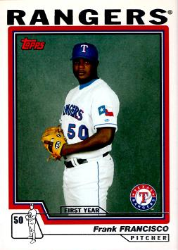 2004 Topps Traded Baseball Frank Francisco Rookie Card