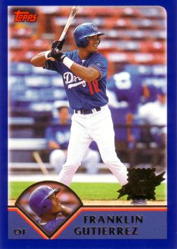 2003 Topps Franklin Gutierrez Rookie Card