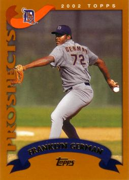 2002 Topps Traded Franklyn German Rookie Card