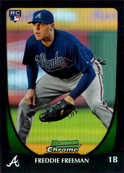 Freddie Freeman Bowman Chrome Refractor Rookie Card