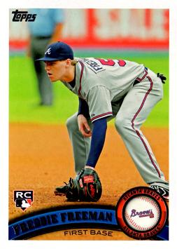 2011 Topps Freddie Freeman Rookie Card