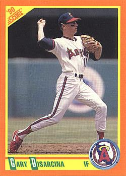 1990 Score R/T Gary DiSarcina Rookie Card