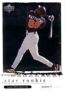 1998 Upper Deck Gary Matthews Jr. Rookie Card