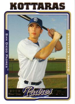 2005 Topps Update George Kottaras Rookie Card