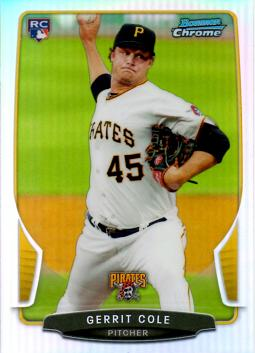 2013 Bowman Chrome Refractor Gerrit Cole Rookie Card