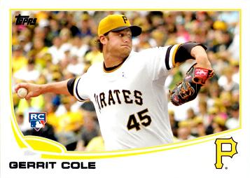 2013 Topps Update Gerrit Cole Rookie Card