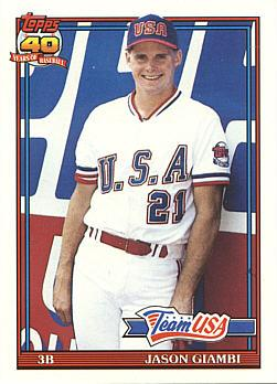 1991 Topps Traded Jason Giambi rookie card