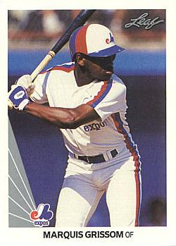 1990 Leaf Marquis Grissom Rookie Card