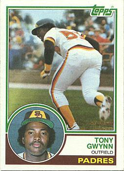 1983 Topps Tony Gwynn rookie card