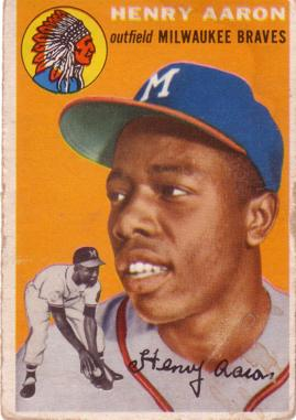 1954 Topps Hank Aaron Rookie Card