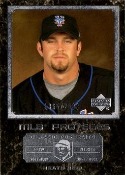 2003 UD Classic Portraits Heath Bell Rookie Card