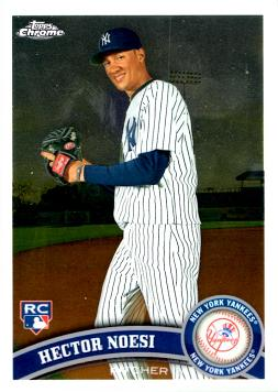 2011 Topps Chrome Hector Noesi Rookie Card