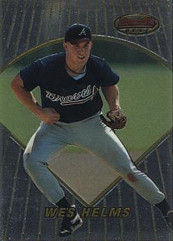 1996 Bowman's Best Wes Helms Rookie Card