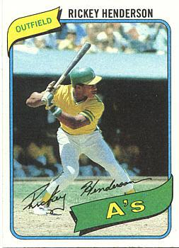 Rickey Henderson Rookie Card